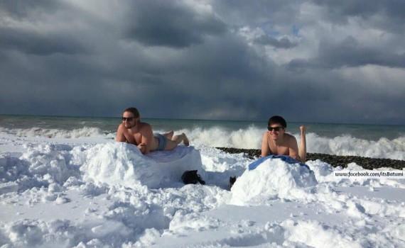 Снег, выпавший в Батуми