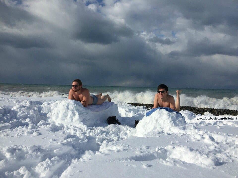 Снег в Батуми