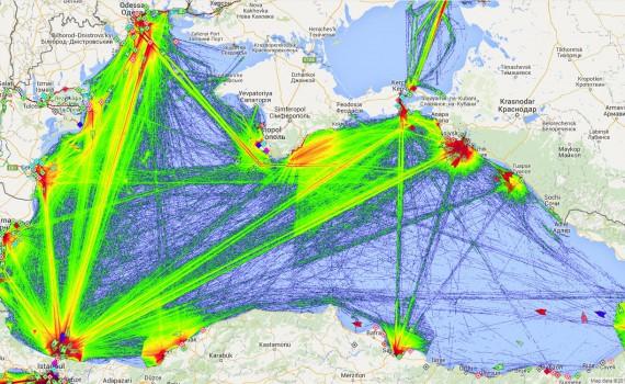 Морской трафик в Чёрном море