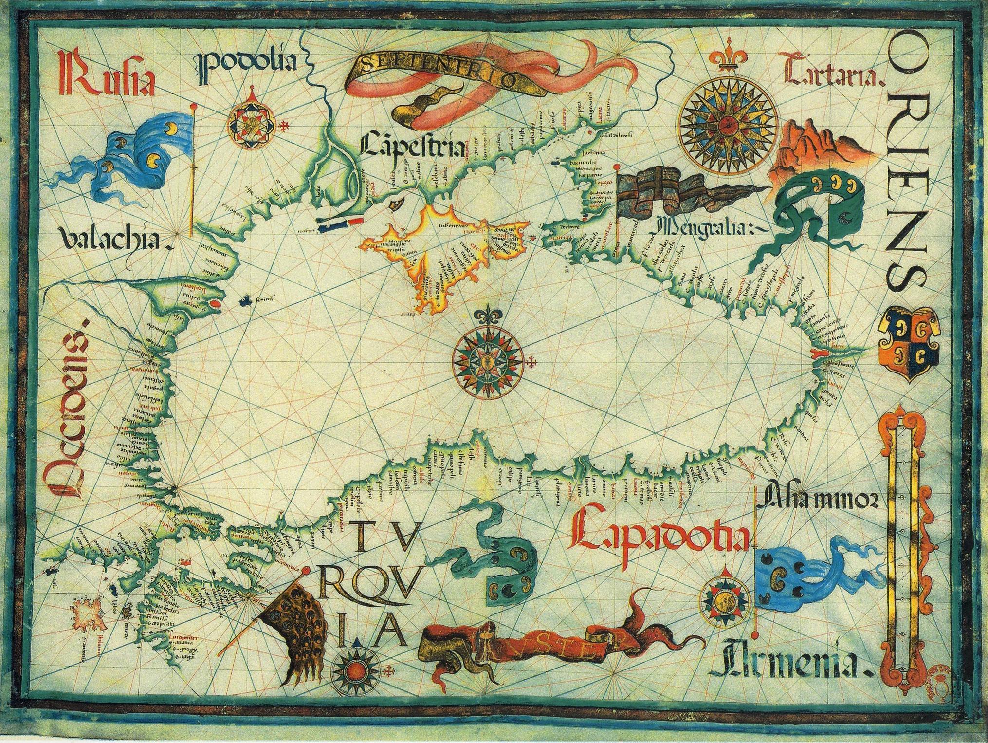 Старая карта Чёрного моря